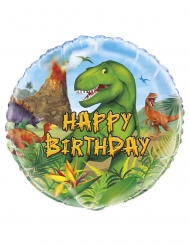 Palloncino in alluminio Happy Birthday Dinosauri 45 cm