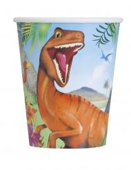 8 bicchieri di carta dinosauro