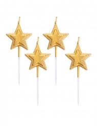 5 Candeline stella dorata