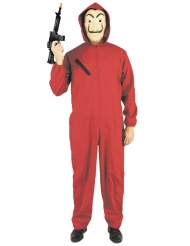 Costume da ladro in tuta rossa per adulto