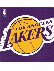 16 Tovaglioli in carta basket NBA Lakers™ 33 cm