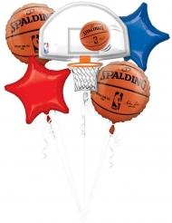 5 Palloncini alluminio basket NBA Spalding™