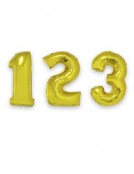 Palloncino in alluminio numero dorato gigante