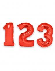 Palloncino in alluminio numero rosso gigante