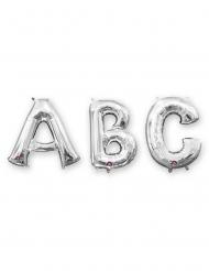 Palloncino lettera in alluminio argento 33 cm