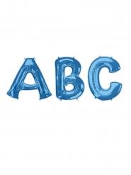 Palloncino lettera in alluminio blu 81 cm