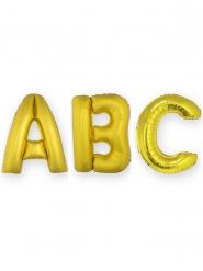Palloncino lettera in alluminio dorato 1 m