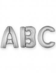 Palloncino lettera in alluminio argento 1 m