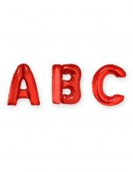 Palloncino lettera in alluminio rosso 1 m
