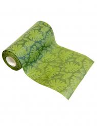 Runner da tavola a rilievo con foglie tropicali verdi