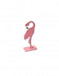 Fenicottero rosa di legno 15 cm
