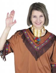 Collana indiana con piume per adulto