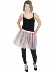 Tutu da ballerina multicolore pastello per adulto