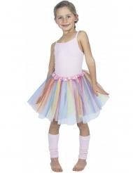 Tutu ballerina multicolore pastello per bambina