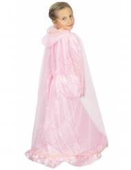 Mantello rosa e oro da principessa per bambina