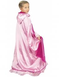 Mantello reversibile deluxe da principessa rosa bambina