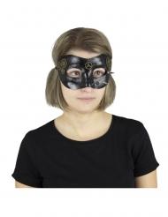 Maschera steampunk nera per adulto