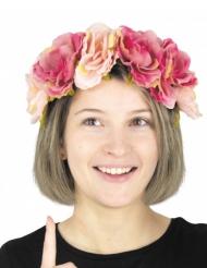 Cerchietto vintage con fiori per adulto