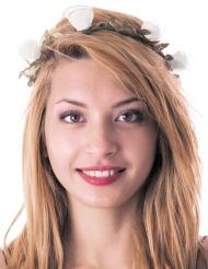 Corona di fiori bianchi per adulto