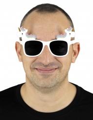 Occhiali bianchi unicorno per adulto