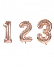 Palloncino alluminio cifre oro rosa 36 cm