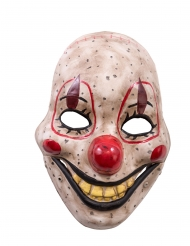 Maschera da clown horror con mandibola mobile in plastica