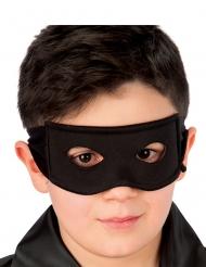 Maschera in tessuto da cavaliere nero per bambino