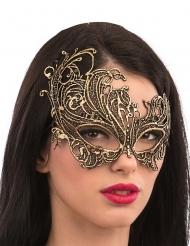 Maschera in tessuto color oro per adulto
