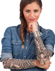 Maniche tatuaggi finti scon scheletro per adulto
