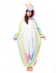 Costume Kigurumi™ da unicorno arcobaleno per adulto