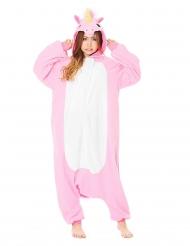 Costume Kigurumi™ da unicorno rosa per adulto