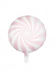 Palloncino lecca lecca rosa e bianco