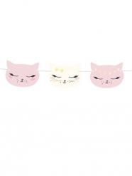 Ghirlanda in cartone gatti rosa e bianchi 8,5 x 140 cm