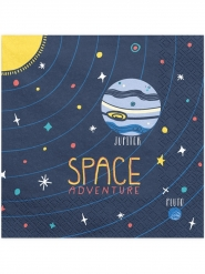 20 Tovaglioli di carta avventura nello spazio 33 cm