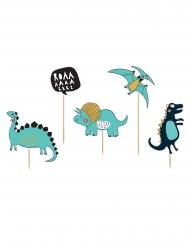 5 Decorazioni per torta in cartone dinosauri 10 - 20 cm