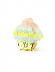 Mini pignatta cupcake metallizzata 10 cm