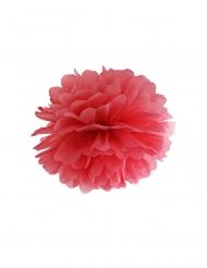 Pompom da appendere in carta rossa 35 cm