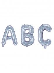 Palloncino in alluminio lettera iridescente 35 cm