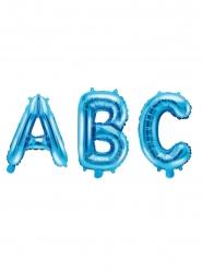 Palloncino in alluminio lettera blu chiaro 35 cm