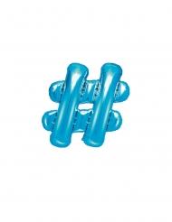 Palloncino in alluminio simbolo # blu chiaro 35 cm