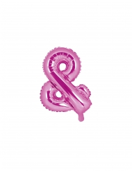 Palloncino in alluminio rosa simbolo & 35 cm