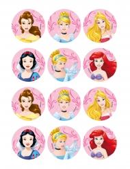 12 Decorazioni ostia per biscotti Principesse Disney™ 5 x 8 cm