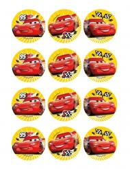 12 decorazioni in ostia per biscotti Cars™ 6 cm