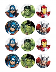 12 Decorazioni di ostia per biscotti Avengers™