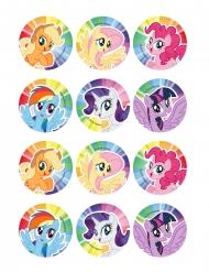 12 Decorazioni in zucchero per biscotti My Little Pony™ 6 cm