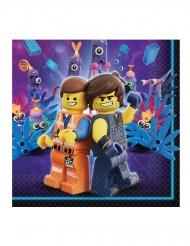 16 tovaglioli in carta Lego movie 2™ 33 cm