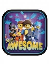 8 Piatti piccoli quadrati in cartone Logo Movie 2™ 18 cm