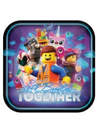 8 Piatti in cartone quadrati Lego movie 2 una nuova avventura™