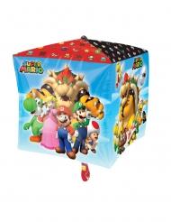Palloncino cubo in alluminio Super Mario™ 38 cm