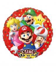 Palloncino musicale in alluminio Super Mario™ 71 cm